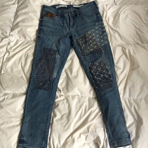 Pilcro Anthropologie Patchwork Jeans size 26